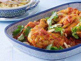 Chicken with honey, tomatoes and almonds recipe