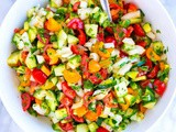 Chopped Tomato, Onion and Cucumber Salad