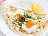 Dukkah and feta fried eggs recipe