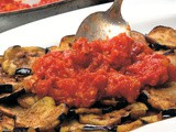 Eggplant with Tomato & Garlic Sauce Recipe