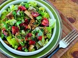 Fattoush (Lebanese  Crumbled Bread  Salad with Sumac and Pita Chips) Recipe