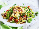 Fattoush salad with grilled haloumi recipe