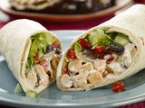 Grilled Eggplant Chickpea Wraps Recipe