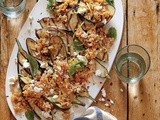 Grilled Eggplant with Freekeh Pilaf Recipe