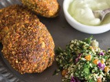 Homemade falafels with tahini yogurt