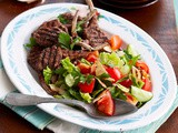 Lamb cutlets with fattoush recipe