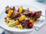 Lamb kebabs with lemony couscous recipe