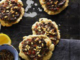 Lamb pastries with allspice tomato and pine nuts Recipe