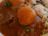 Lebanese Potato and Beef Stew With a Side of Rice Recipe