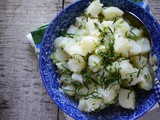 Lebanese potato salad with lemon and mint recipe