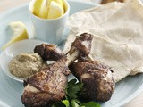 Lebanese-spiced drumsticks with baba ghanoush recipe