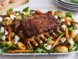 Lebanese-style lamb with honey carrots and baby potatoes recipe