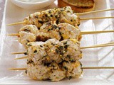 Lemon & garlic fish kebabs recipe