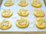 Mini Cheese Flatbreads with Mint Recipe