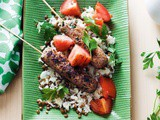 Persian-style kebabs with rice and lentil pilaf recipe