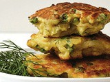 Potato and fennel fritters recipe