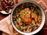 Roast Chicken With Couscous, Dates and Buttered Almonds Recipe
