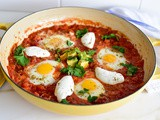 Shakshuka with Avocado, Labneh, and Za'atar Recipe