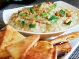 Smoky Eggplant & White Bean Dip with Pita Crisps Recipe