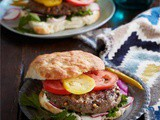 Spiced lamb pine nut burgers with tahini yoghurt recipe