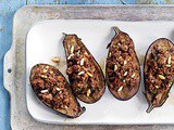 Stuffed Eggplant with Lamb and Pine Nuts Recipe