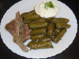 Stuffed Vine Leaves and Lamb Chops Recipe