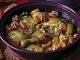 Sweet Chicken Tagine with Apricots and Caramelized Walnuts Recipe