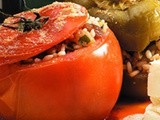 Tomatoes stuffed with rice and raisins recipe