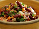 Turkish kidney bean salad (barbunya pilakli) recipe