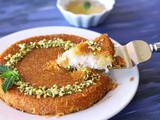 Vegan kunafa (knafeh) | shredded phyllo and sweet cheese dessert Recipe