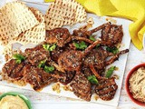 Za'atar lamb cutlet platter with dips recipe
