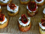 Za'atar Roasted Tomato Crostini with Labneh Recipe
