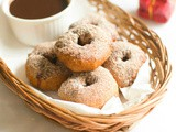Gingerbread donuts recipe - eggless yeast free donuts recipe