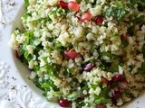 Bulgur Sald with Mint & Pomegranates
