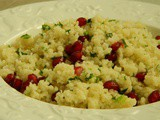 Couscous with Mint, Parsley & Pomegranate Seeds