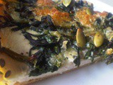 Spinach & Ricotta Cheese Pie with Thyme, Sumac and Pumpkin Seeds