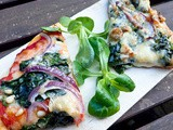 Pizza Rouge et Blanche aux Epinards / Red and White Spinach Pizza