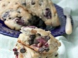 Fresh Cherry and Chocolate Chip Scones