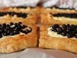 Food from the forest: wild blueberry and ricotta  boats