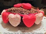 Dark Chocolate Cake featuring Valentine's Day Peeps Marshmallows