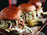 Dr Pepper Pulled Pork Sandwiches & Brownie Pretzel Cupcakes