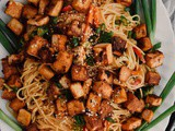 Honey Garlic Tofu & Noodles