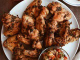 Mediterranean Style Chicken Wings with Grilled Onion & Pepper Chutney & Giveaway
