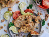 Walnut Crusted Oven Fried Chicken Cutlets