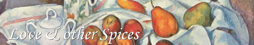 Very Good Recipes - Love & other Spices