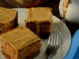 Moist Date Cake with Caramel Sauce