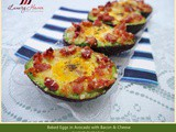 Baked Eggs in Avocado with Bacon, a Healthy Breakfast Treat