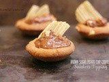 Brown Sugar Potato Chip Cookies with Snickers Topping- a.k.a bff Cookies