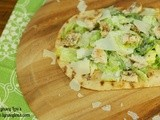 Chicken Ceasar Grilled Flatbread Pizza