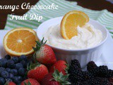 Orange Cheesecake Fruit Dip